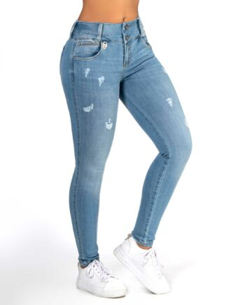 Jean skinny con faja al interior