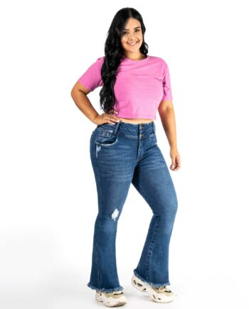 Jean skinny plus size tono medio